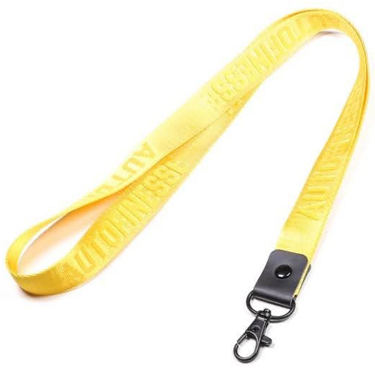 Auto Finesse Luxury Embossed Lanyard Long Yellow