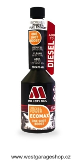 Millers Oils Diesel Power ECOMAX One Shot Boost jednorázová aditivace nafty 250 ml